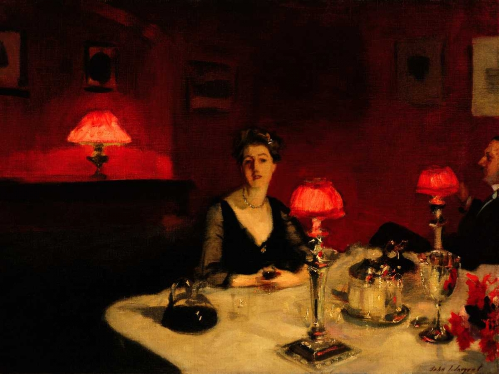 A Dinner Table at Night Sargent, John Singer 43963