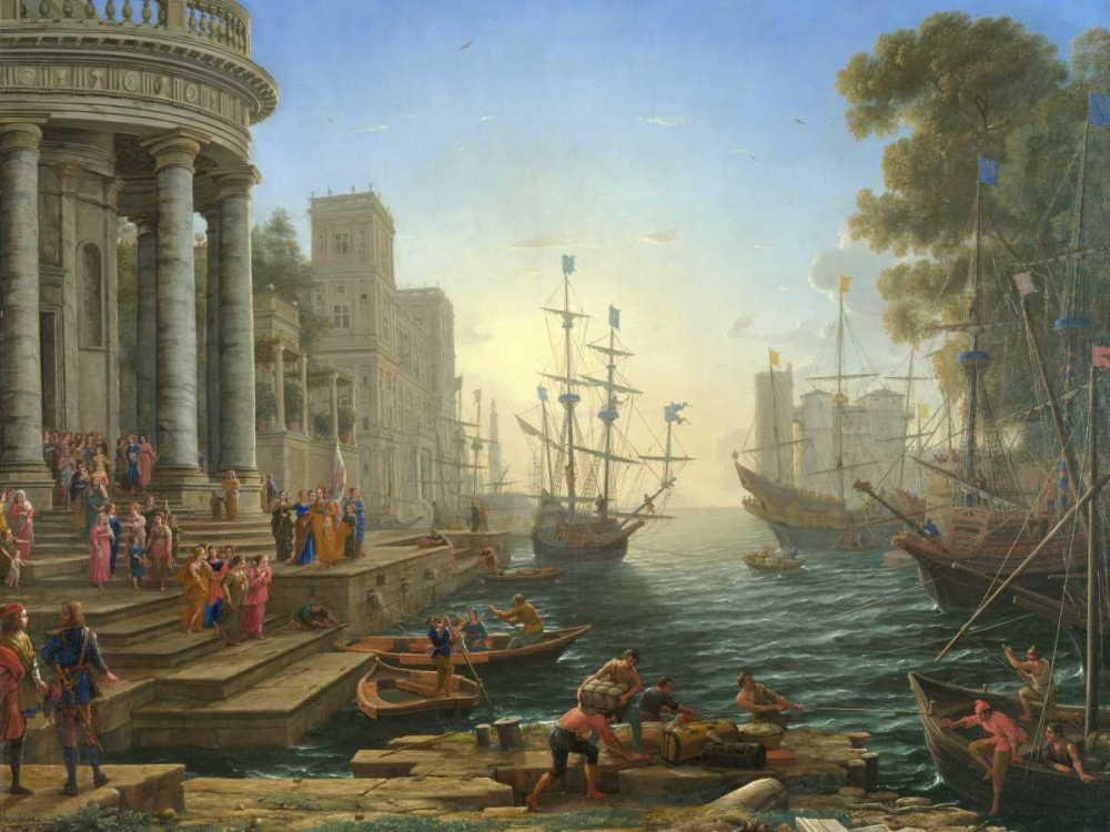 Seaport with the embarkation of Saint Ursula Gellee, Claude 162806
