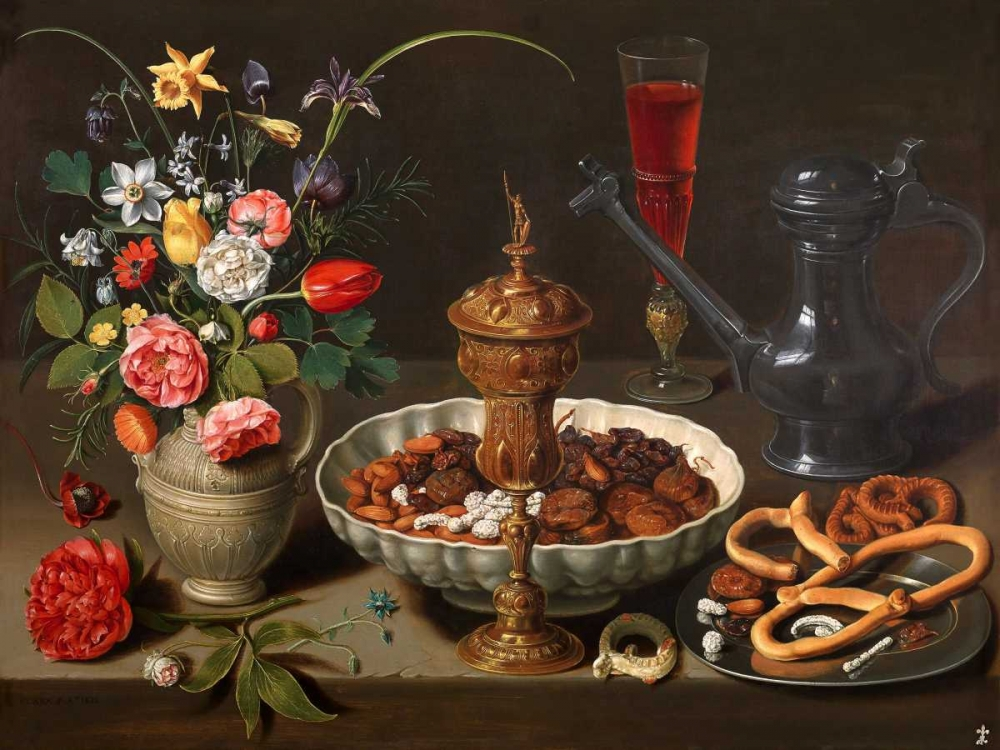 Still Life of Flowers and Dried Fruit Peeters, Clara 149019