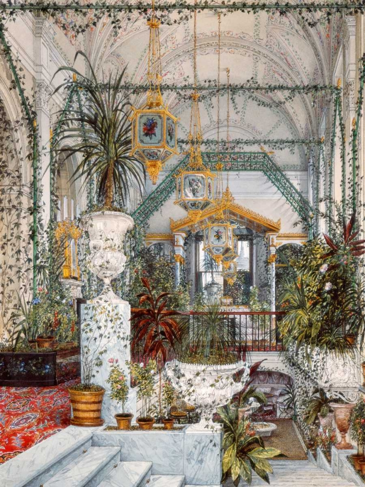 Interiors of the Winter Palace: the Winter Garden Ukhtomsky, Konstantin Andreyevich 150116