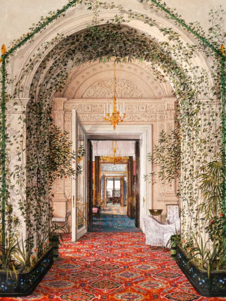 Interiors of the Winter Palace: the Small Winter Garden Ukhtomsky, Konstantin Andreyevich 150117