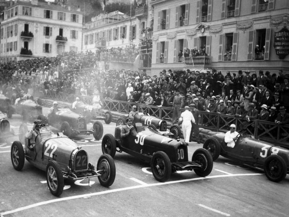 Le depart du Grand Prix de Monaco 1932. Delius 149025