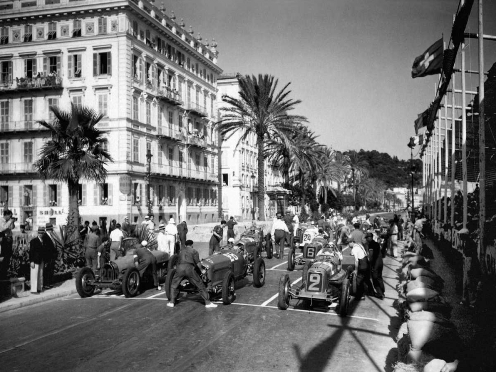 Depart du Grand Prix automobile de Nice 1934. Delius 149026