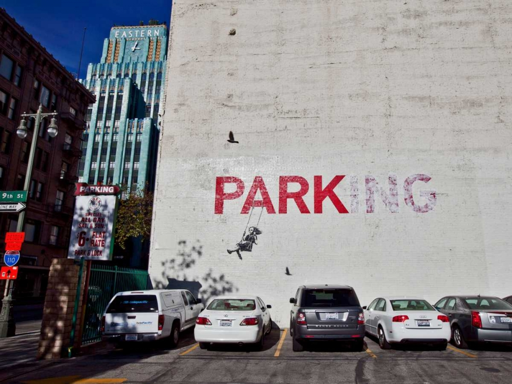 Broadway Los Angeles-graffiti attributed to Banksy Anonymous 44167