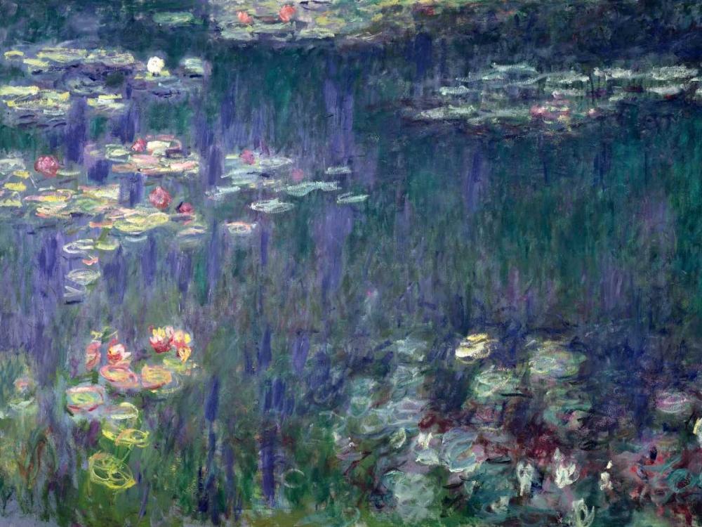 Waterlilies- Green Reflections Monet, Claude 43848