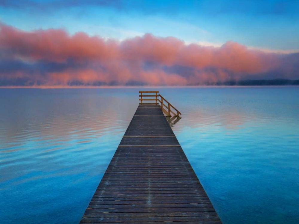 Boat ramp and fog bench, Bavaria, Germany Krahmer, Frank 118089