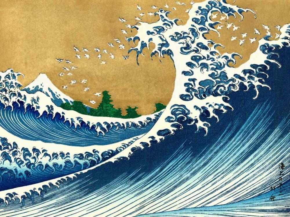 The Big Wave-from 100 views of Mt. Fuji Hokusai 44066