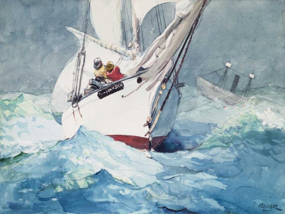 Reefing sails around Diamond Shoals, Cape Hatteras Homer, Winslow 162822