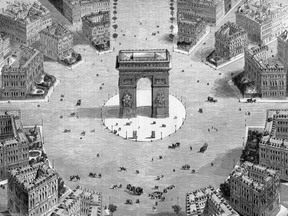 Illustration of the Place de lEtoile, 1857 (detail) Anonymous 162723