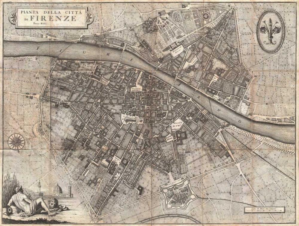 Pianta della Citta di Firenze, 1847 Molini, Giuseppe 162873