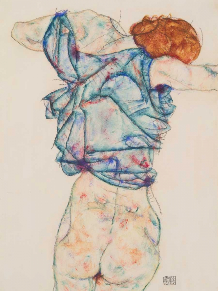 Woman Undressing Schiele, Egon 162923