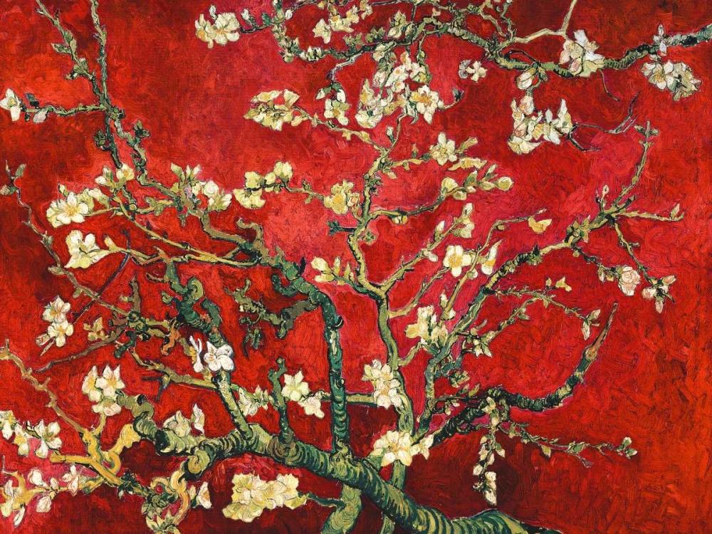 Mandorlo in fiore (red variation) Van Gogh, Vincent 118174