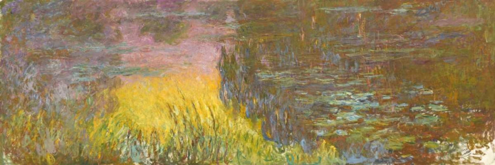 The Water Lilies - Setting Sun Monet, Claude 43847