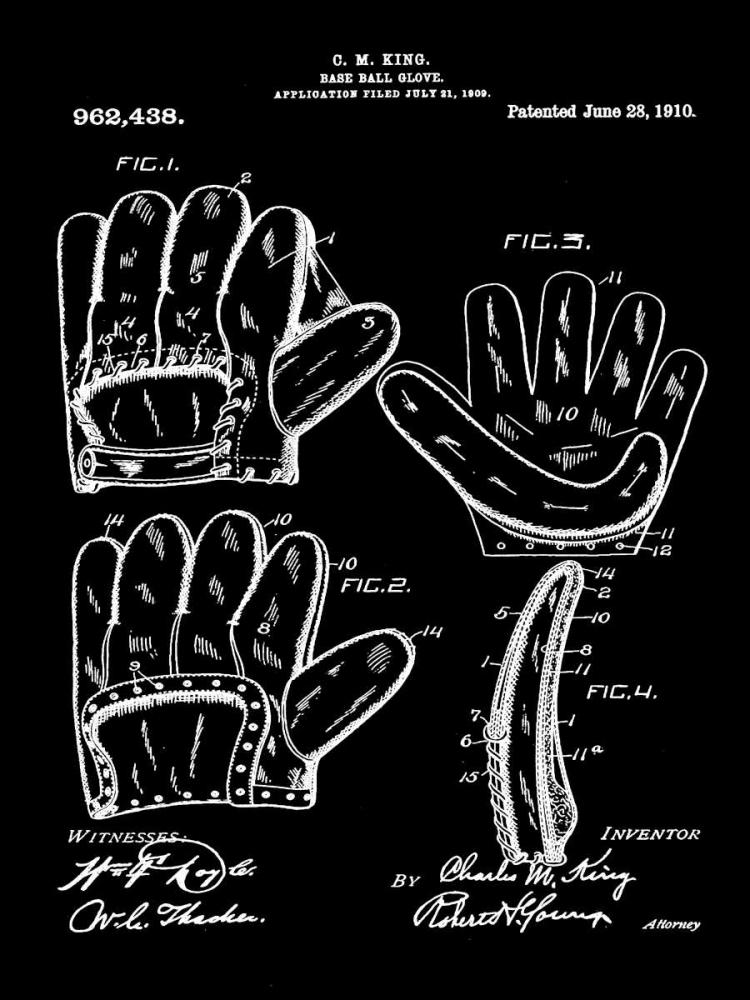 Baseball Glove - 1909-Black Cannon, Bill 124845