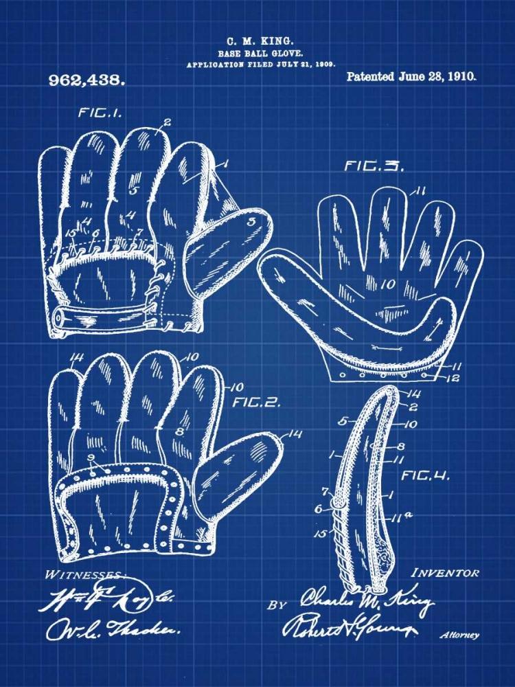 Baseball Glove - 1909-Blue II Cannon, Bill 124847