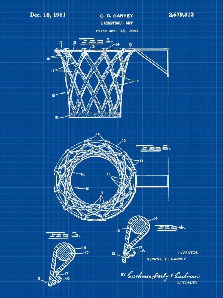Basketball net - 1950-Blue II Cannon, Bill 124860