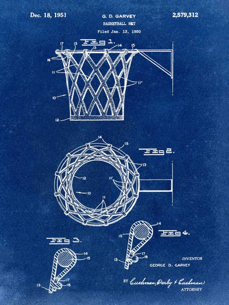 Basketball net - 1950-Blue I Cannon, Bill 124861