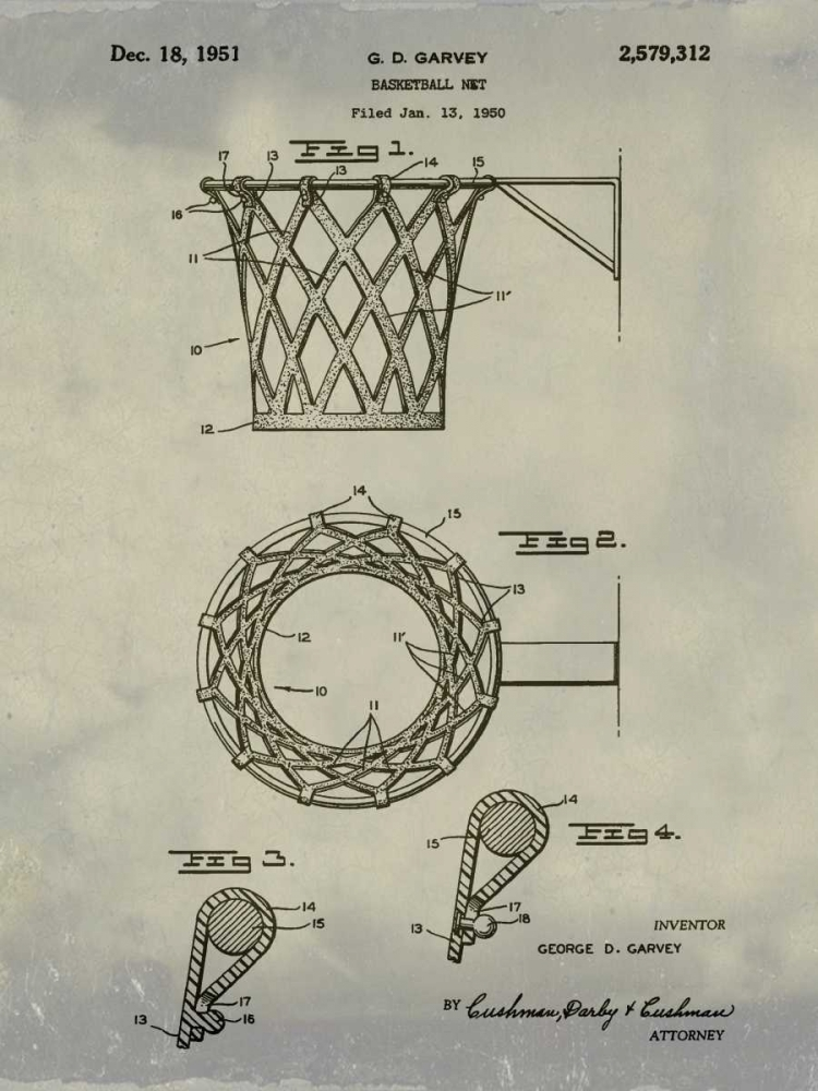 Basketball net - 1950-Antique I Cannon, Bill 124864
