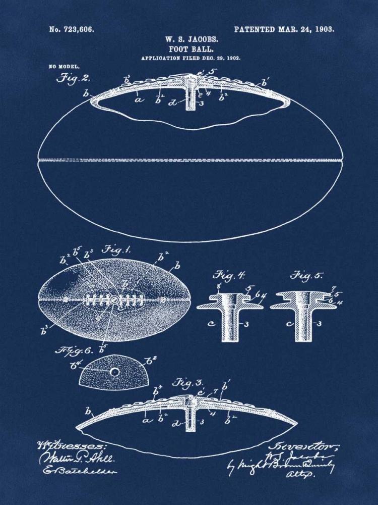 Football - 1903-Blue Cannon, Bill 124888