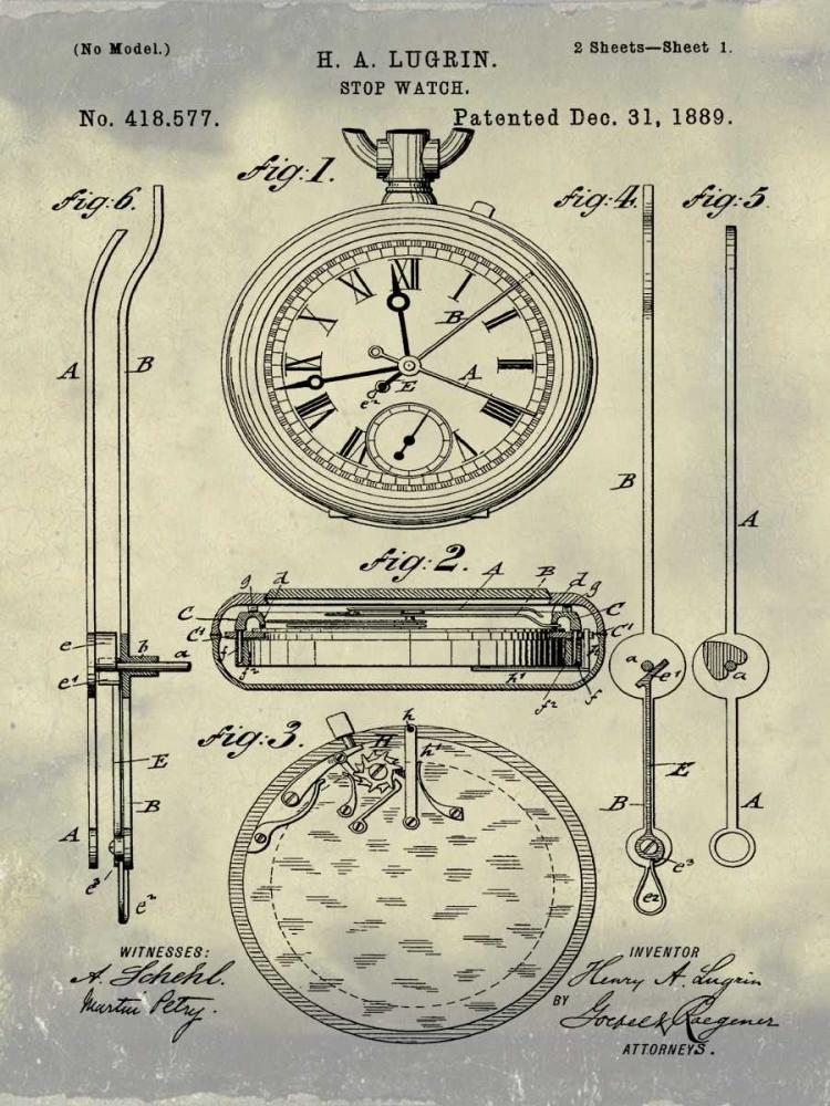 Stop Watch II - 1889-Antique II Cannon, Bill 124953