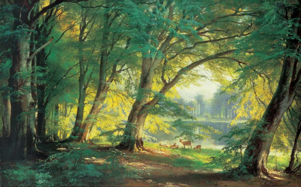 Deer in a Forest Aagaard, Carl Frederic 53939