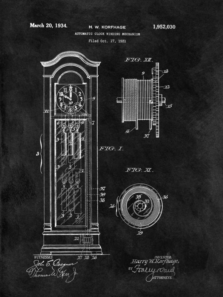Automatic Clock Winding Mechan Sproul, Dan 125017