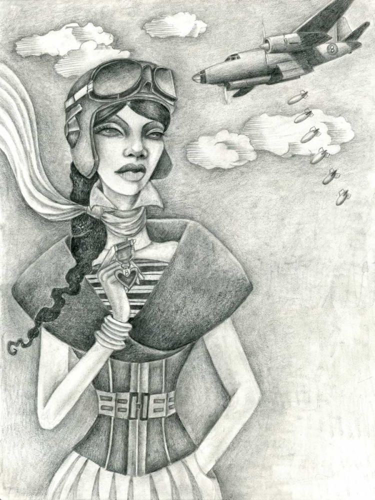The Aviator (Drawing) Goddess, Jami 72256