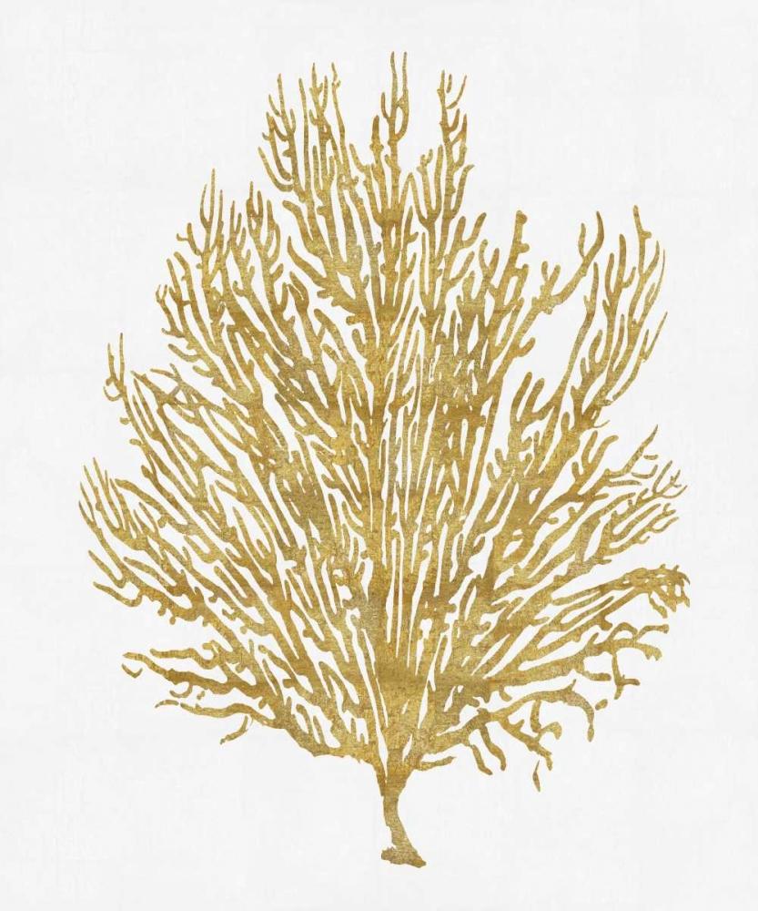 Sea Life - Gold on White V Miller, Melonie 88159