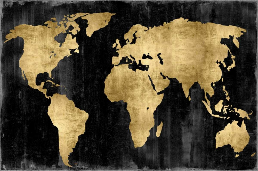 The World - Gold on Black Brennan, Russell 88171