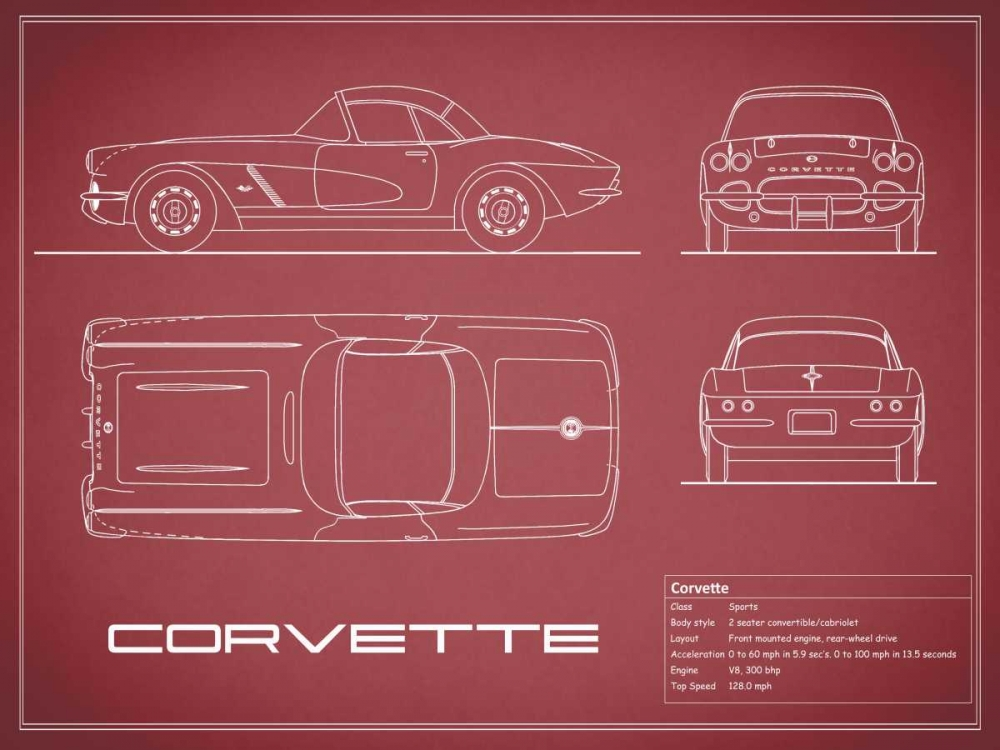 Corvette 33BHP-Maroon Rogan, Mark 125589