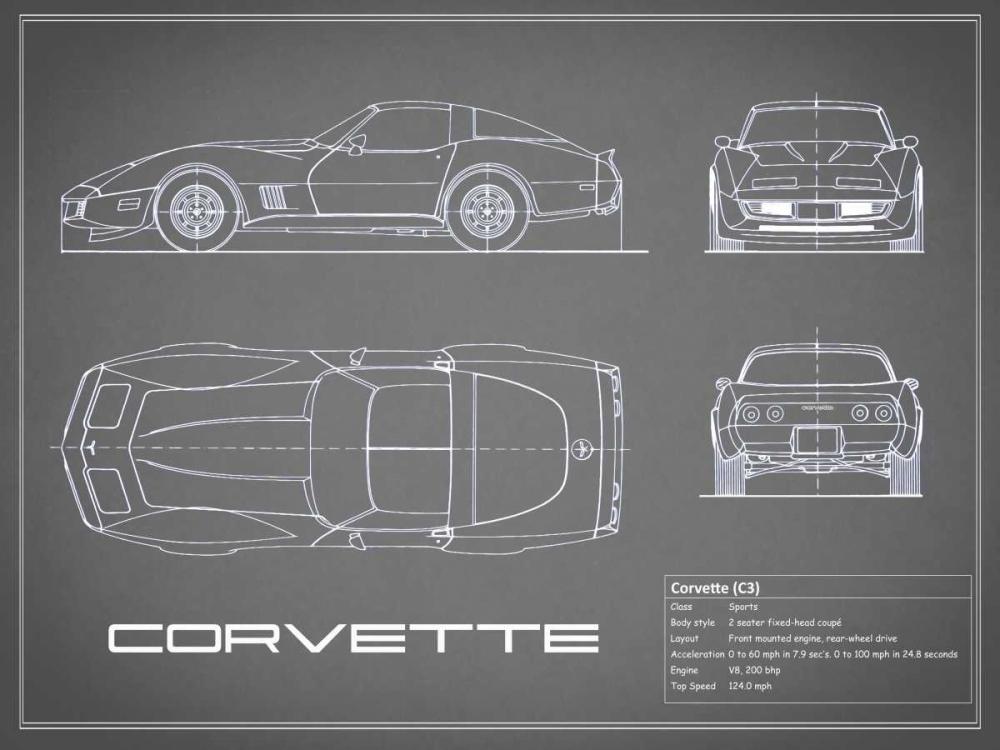 Corvette C3-Grey Rogan, Mark 125590