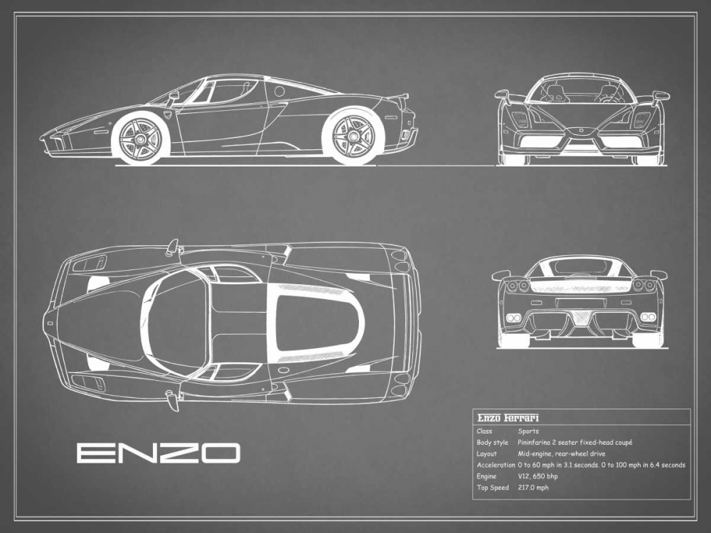 Ferrari Enzo-Grey Rogan, Mark 125611