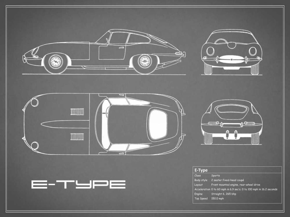 Jaguar E-Type-Grey Rogan, Mark 125617