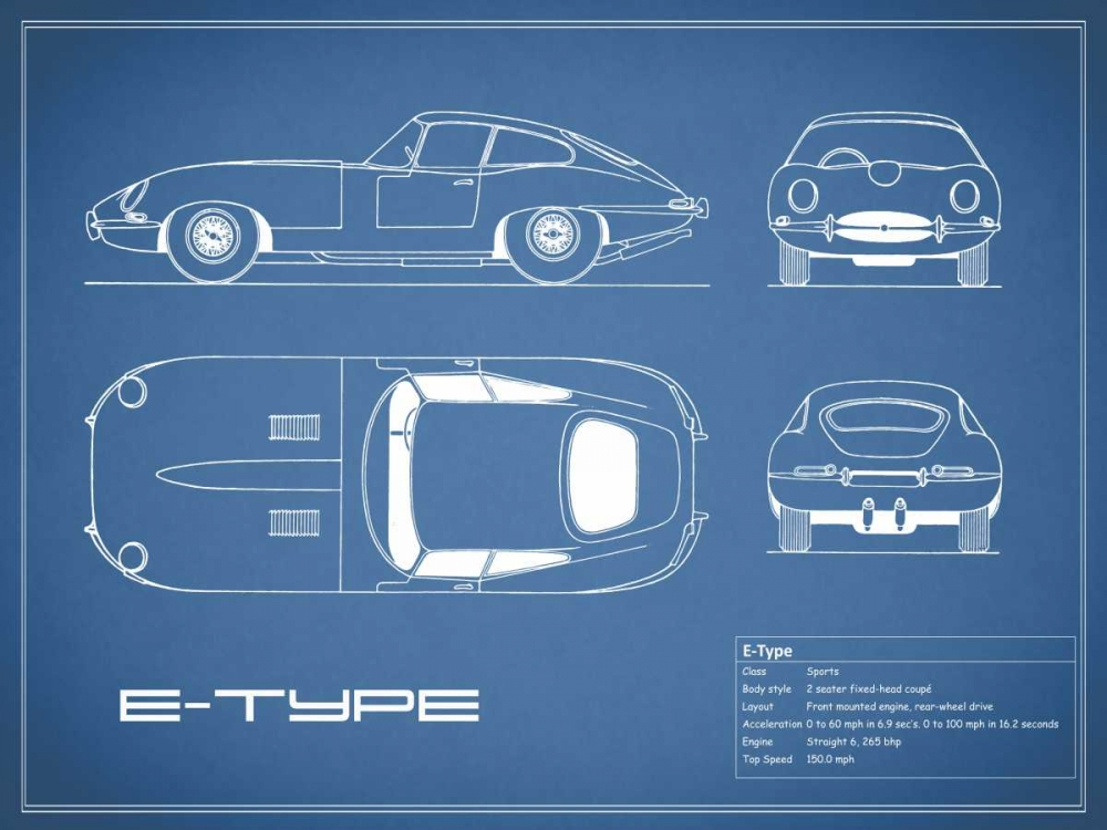 Jaguar E-Type-Blue Rogan, Mark 125618