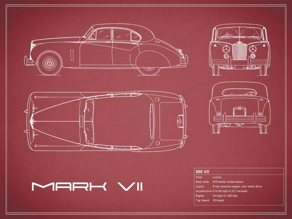 Jaguar MkVII-Maroon Rogan, Mark 125622