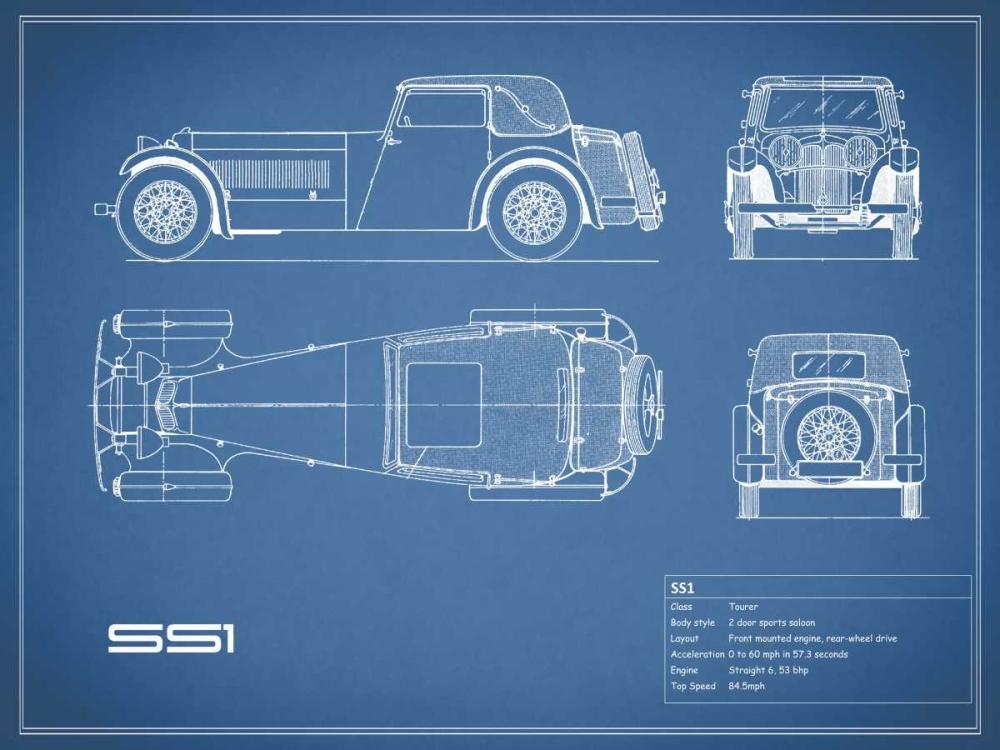 Jaguar SS1-Blue Rogan, Mark 125624