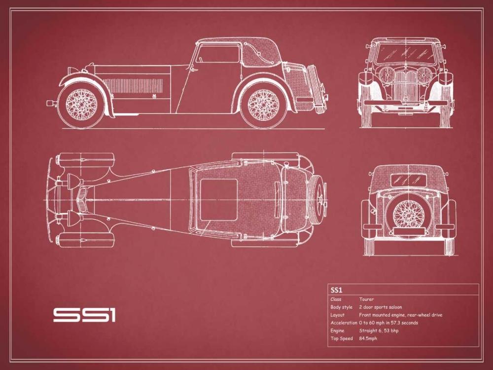 Jaguar SS1-Maroon Rogan, Mark 125625