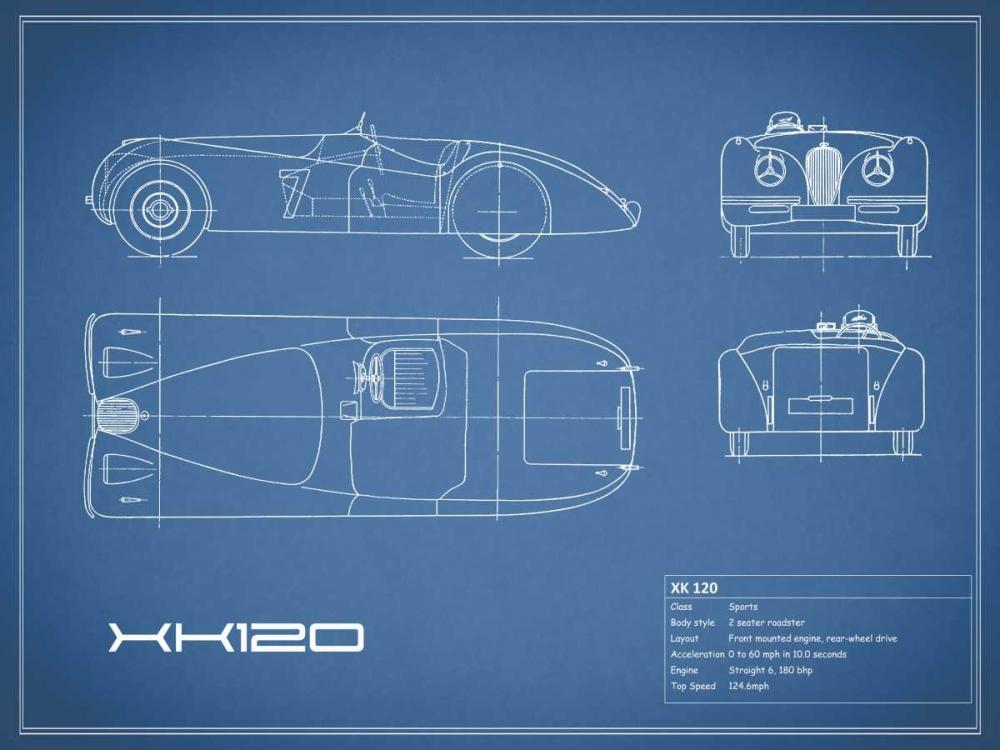 Jaguar XK-120-Blue Rogan, Mark 125630