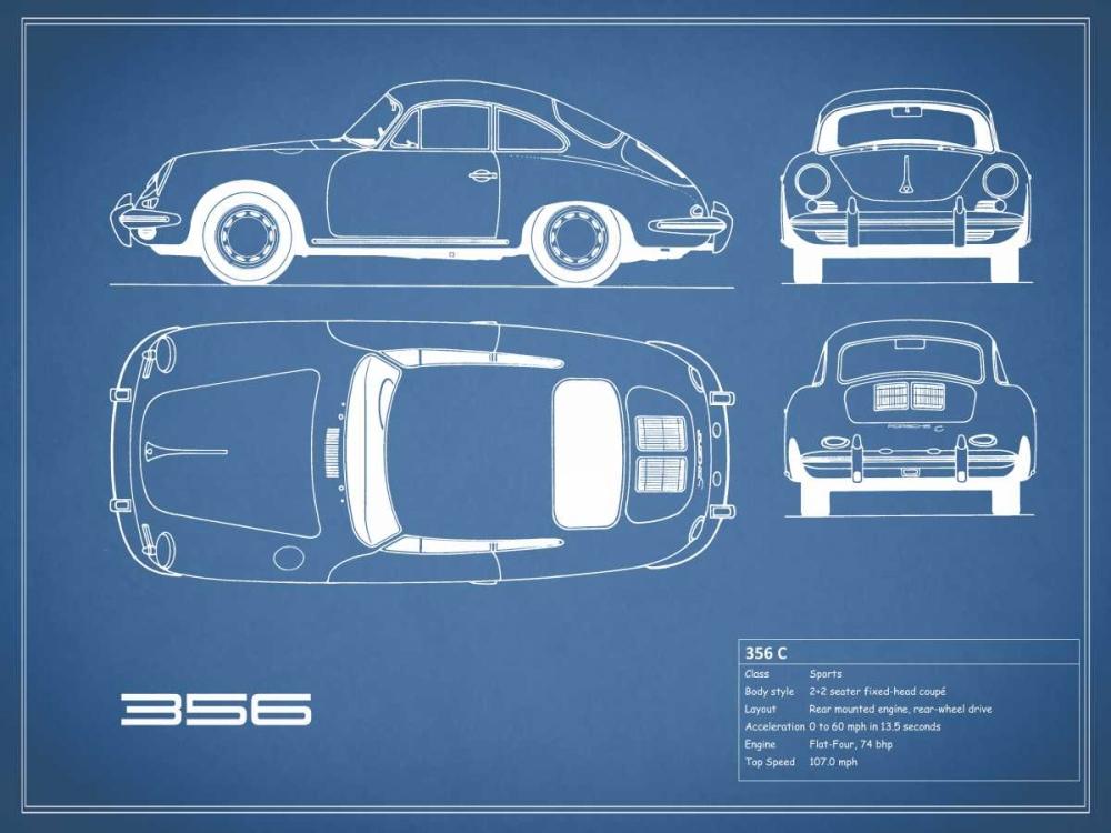 Porsche 356C-Blue Rogan, Mark 125648
