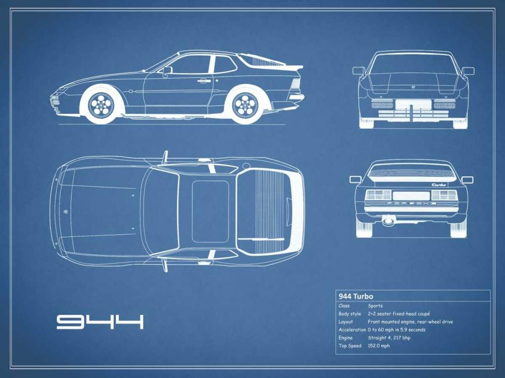 Porsche 944 Turbo-Blue Rogan, Mark 125651