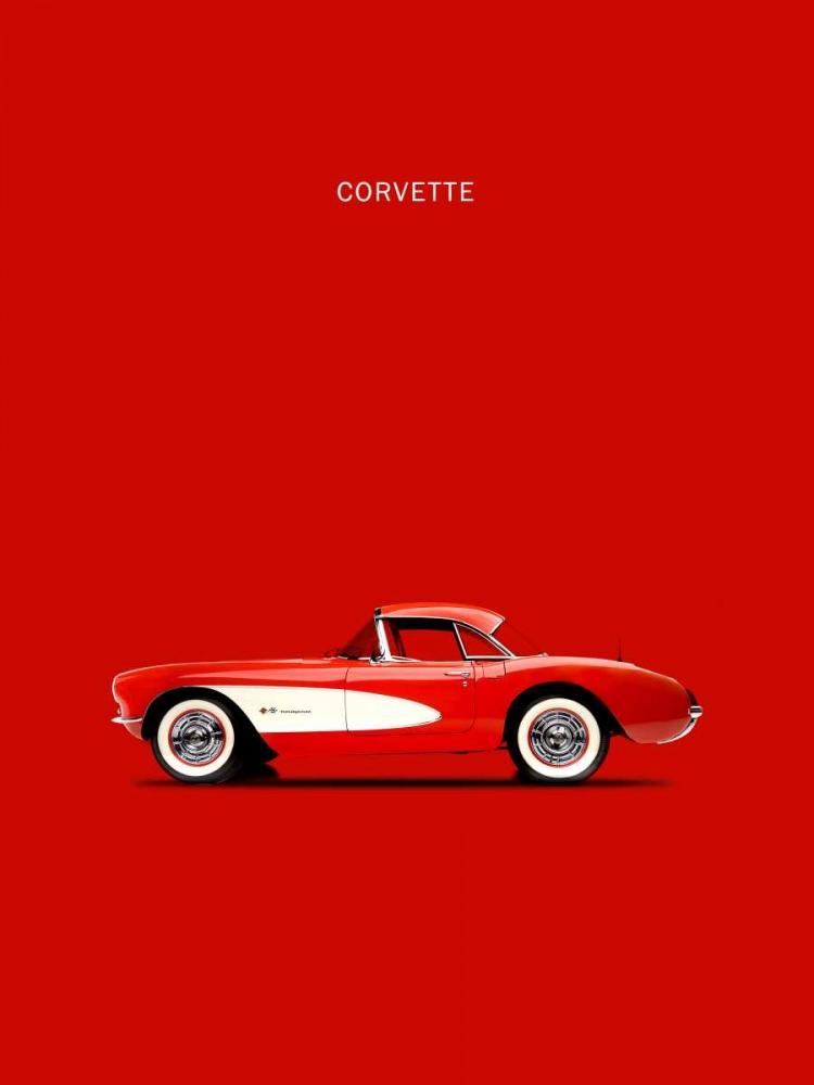 Corvette 1957 Red Rogan, Mark 125323