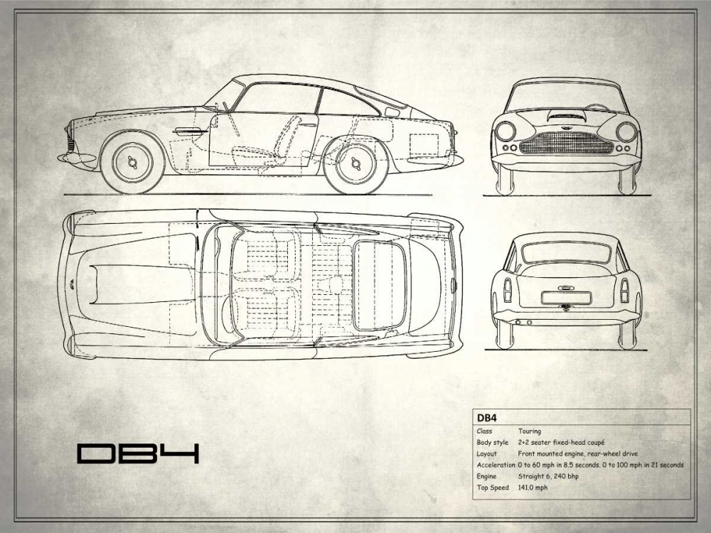 Aston DB4 White Rogan, Mark 125369