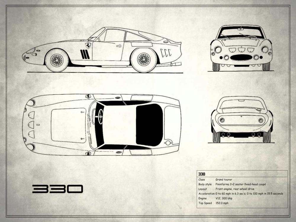 Ferrari 330 White Rogan, Mark 125377