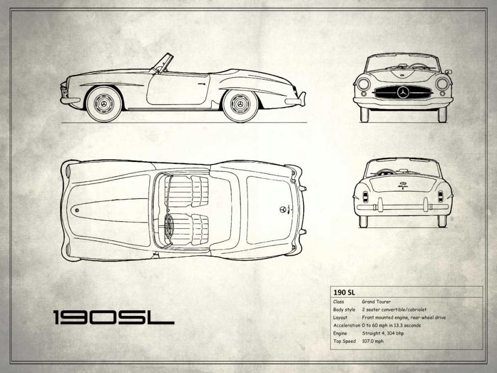 Mercedes 190-SL White Rogan, Mark 125386