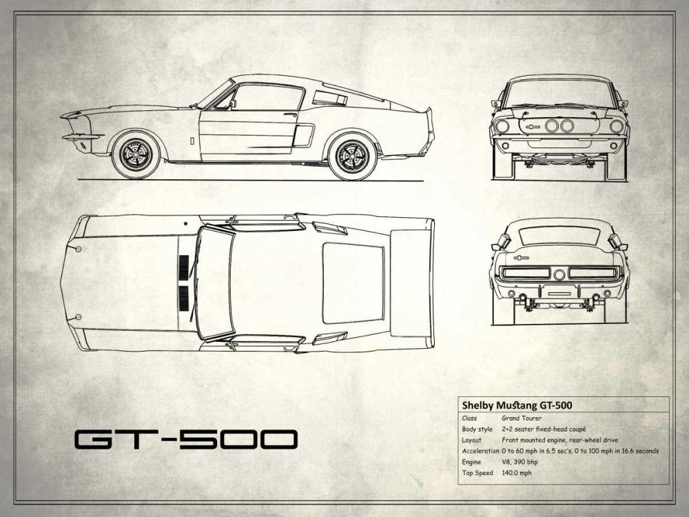 Shelby Mustang GT500 White Rogan, Mark 125397