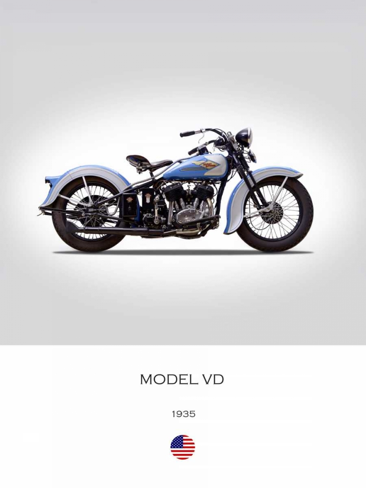Harley Davidson Model VD 1935 Rogan, Mark 150754