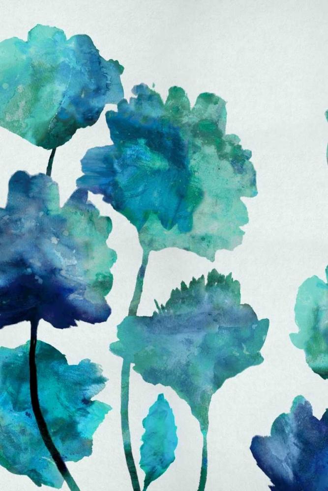Aqua Blossom Triptych II Austin, Vanessa 52665