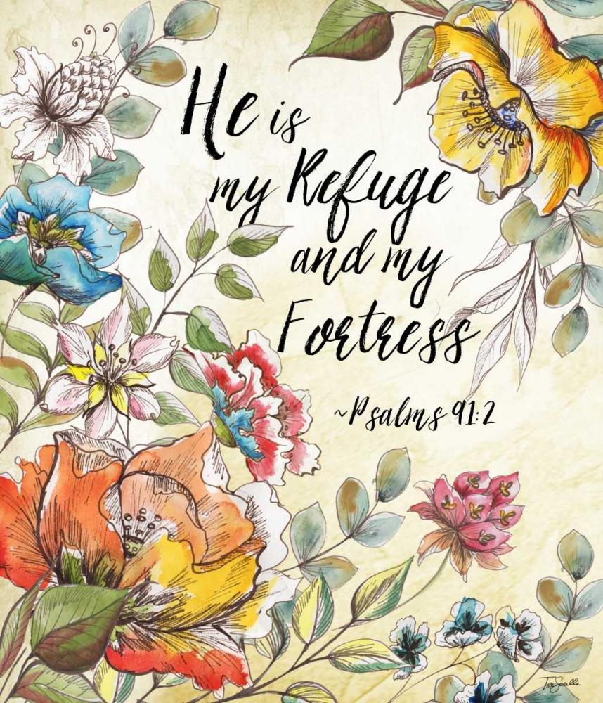 Boho Floral Garden Sketch Psalms II Tre Sorelle Studios 106004