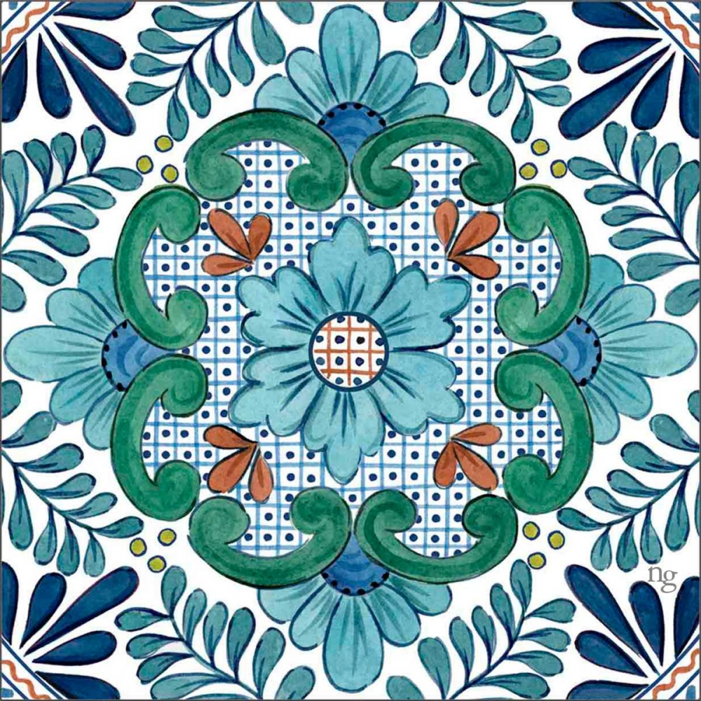 Talavera Azul I Nancy Green Design 154632