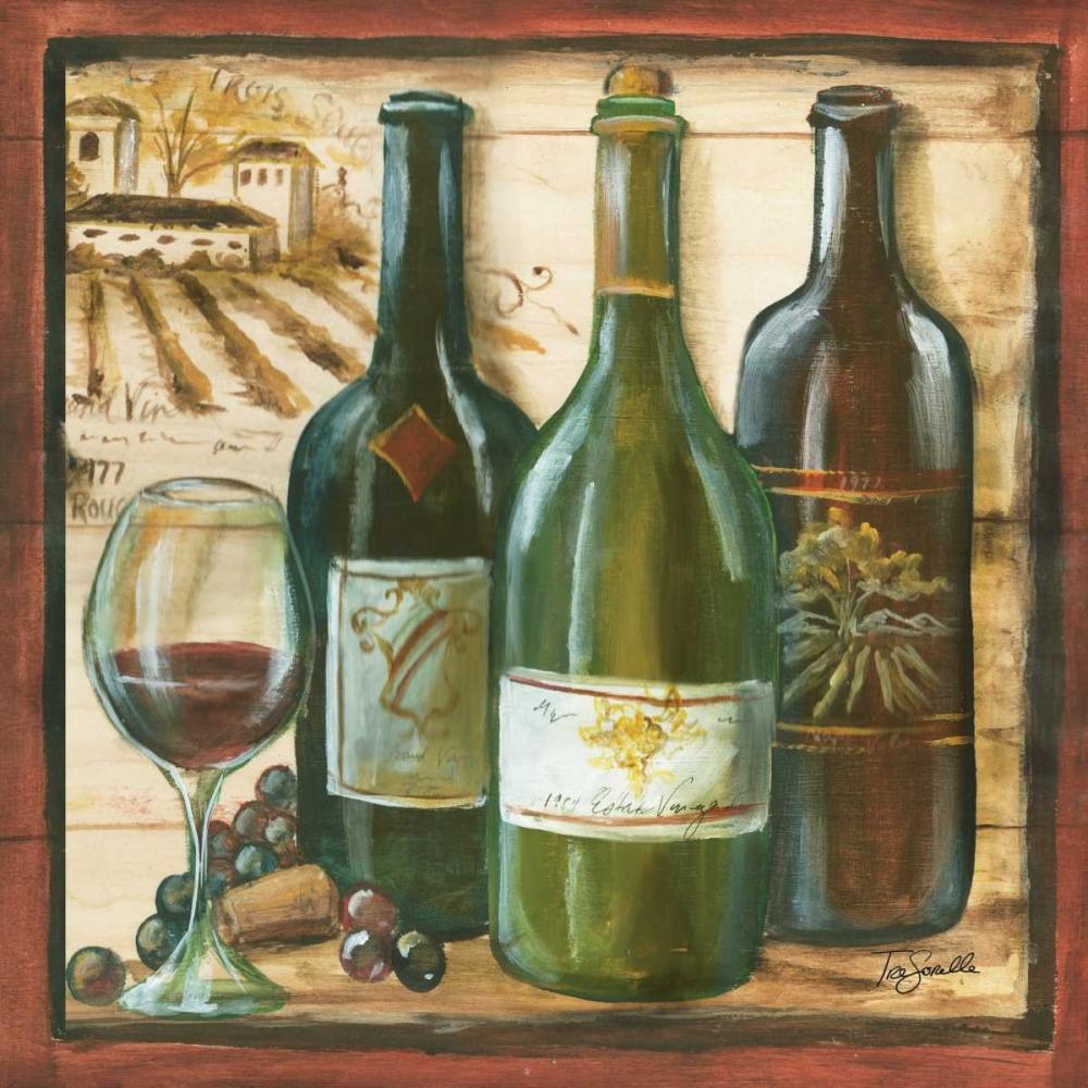 Wooden Wine Square II Tre Sorelle Studios 64774